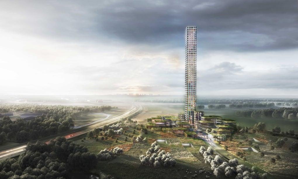 Egy hétezer fős dán városban építenék fel Nyugat-Európa legmagasabb épületét