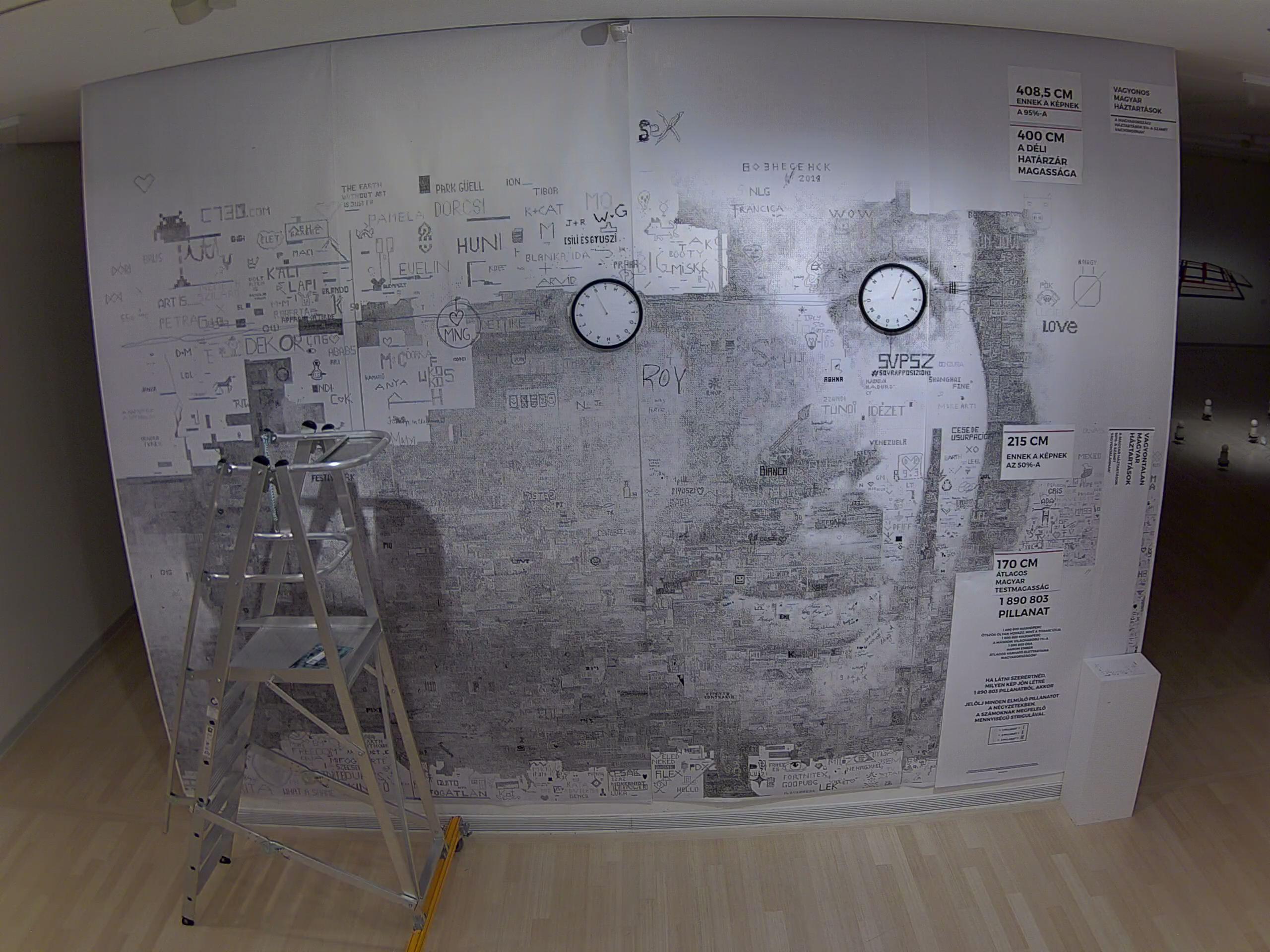 Behívatta a Ludwig Múzeum igazgatója a művész galeristáját, akinek a művén Orbán Viktor fiatalkori arcképe bontakozott ki