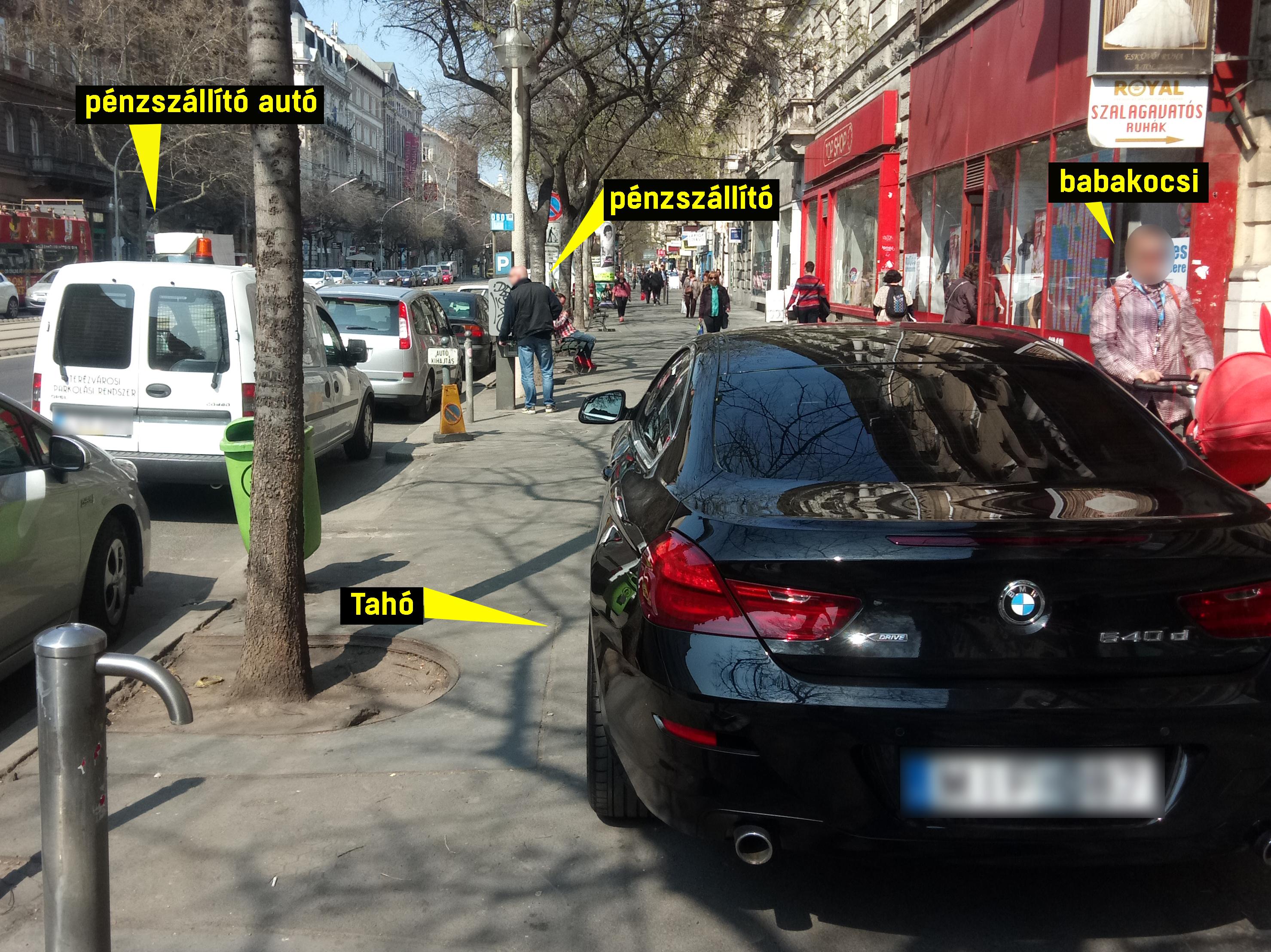 Egyetlen képen a teljes budapesti parkolási nyomor