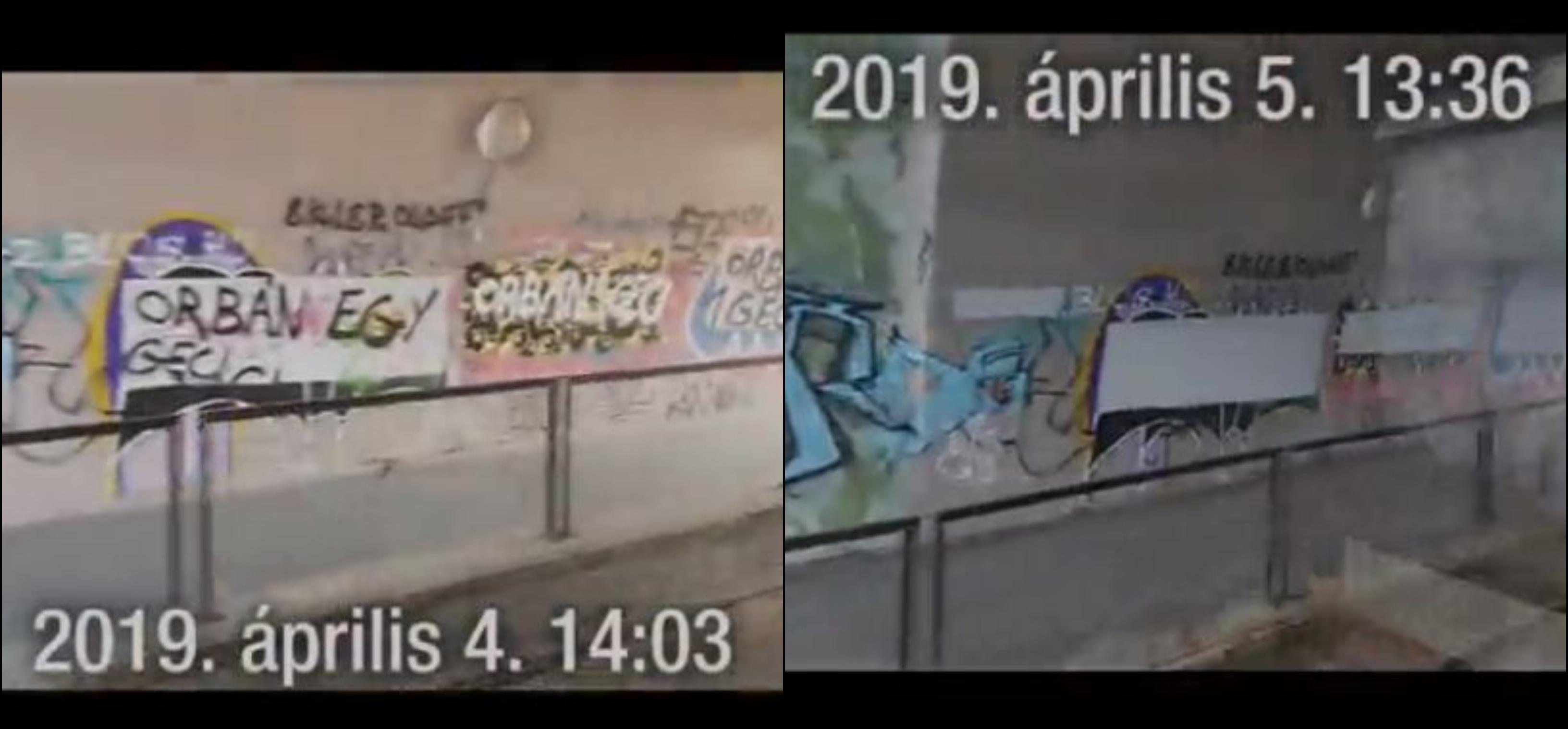 Lefegyverző oknyomozó videó készült a kizárólag az O1G-feliratokat eltüntető szorgos kezek munkájáról