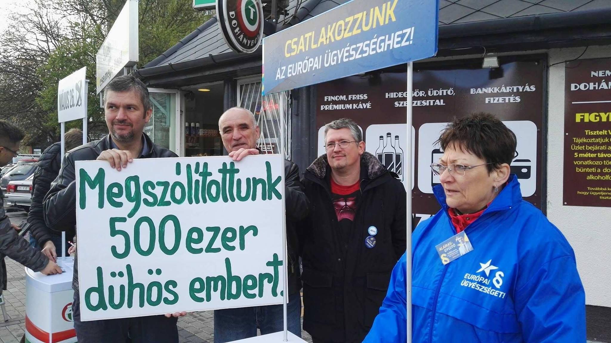 Félmillió aláírást gyűjtött össze Hadházy Ákos azért, hogy Magyarország csatlakozzon az Európai Ügyészséghez