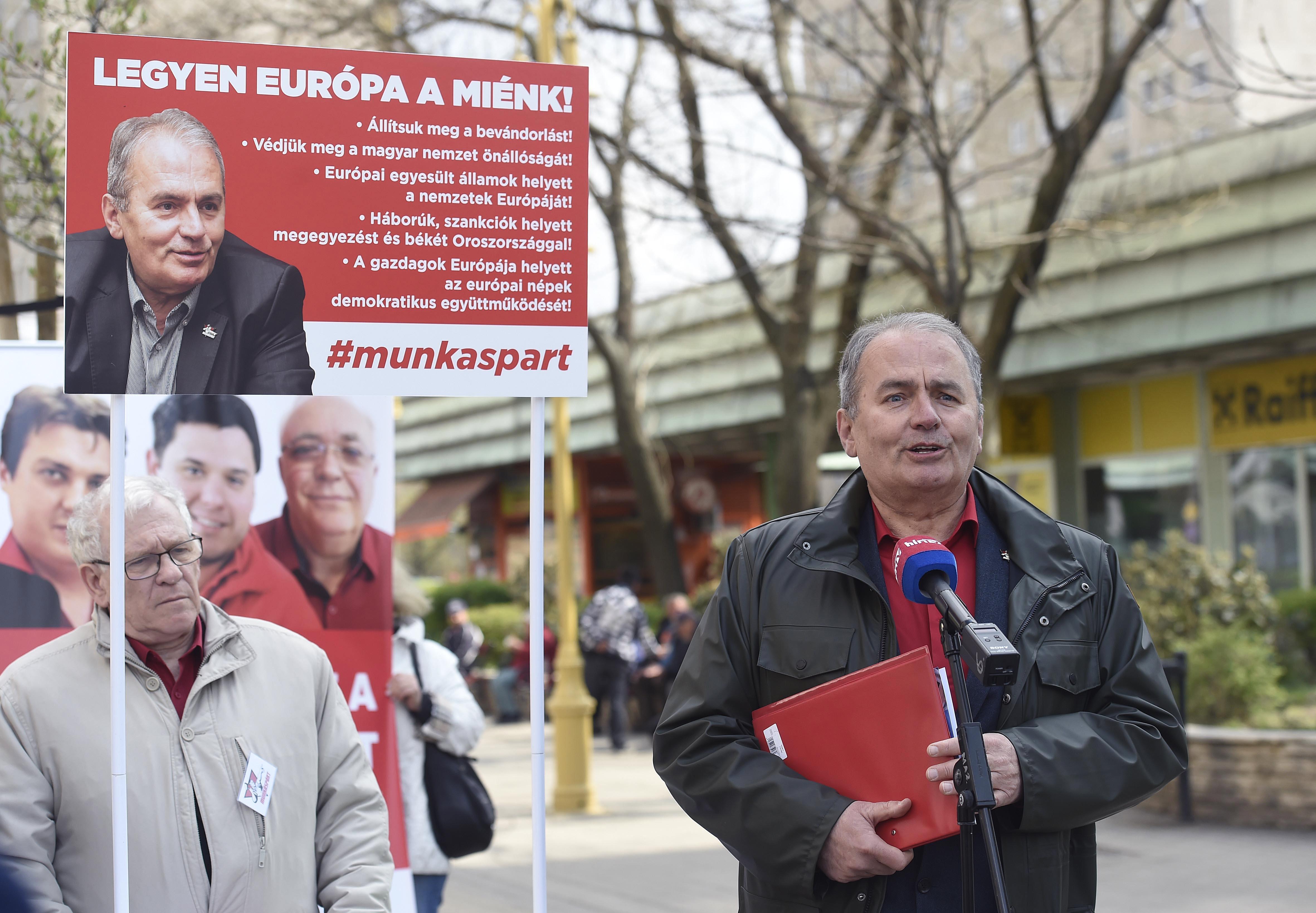 Thürmer Gyula gyakorlatilag a Fidesz EP-választási programjával kampányol