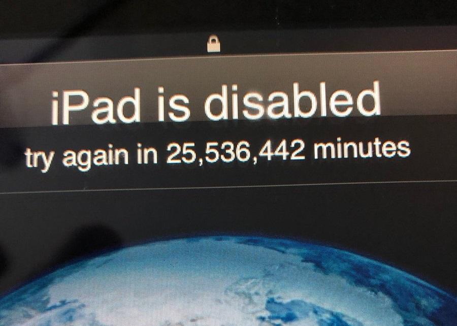 Egy 3 éves gyerek 2067-ig lezárta az apja iPadjét