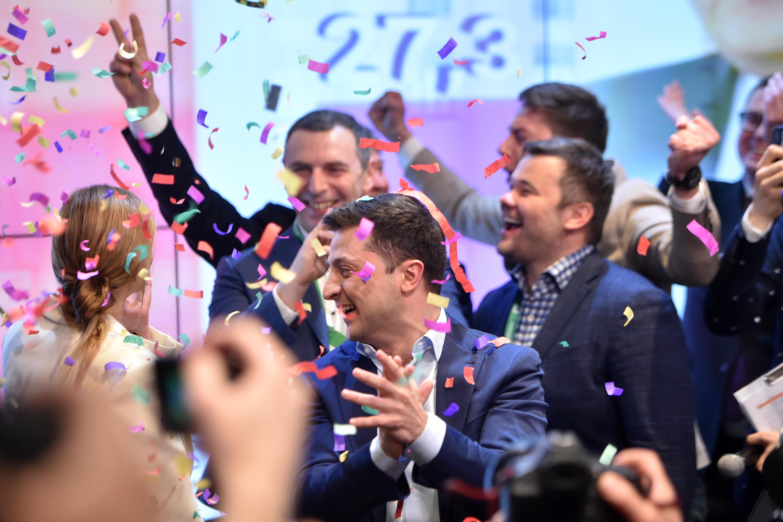 Zelenszkij megnyerte az ukrán elnökválasztást