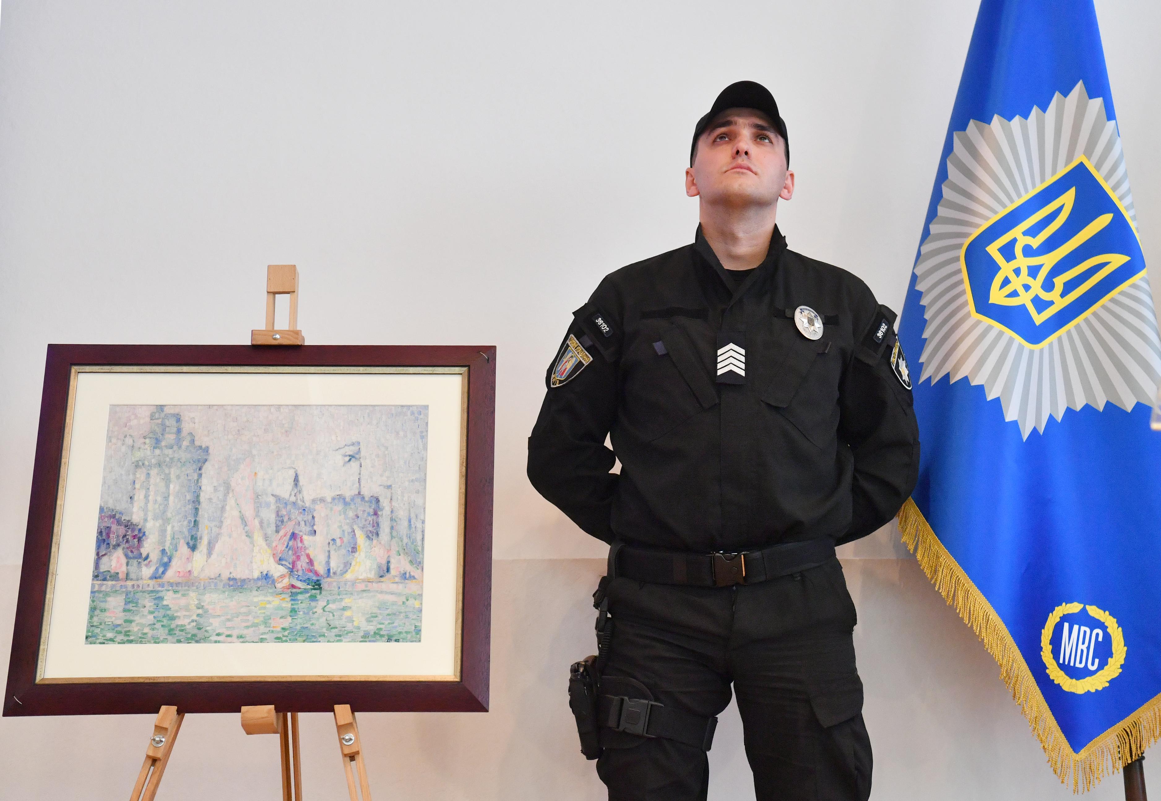 Ukrajnában találtak meg egy Franciaországban ellopott Paul Signac-festményt