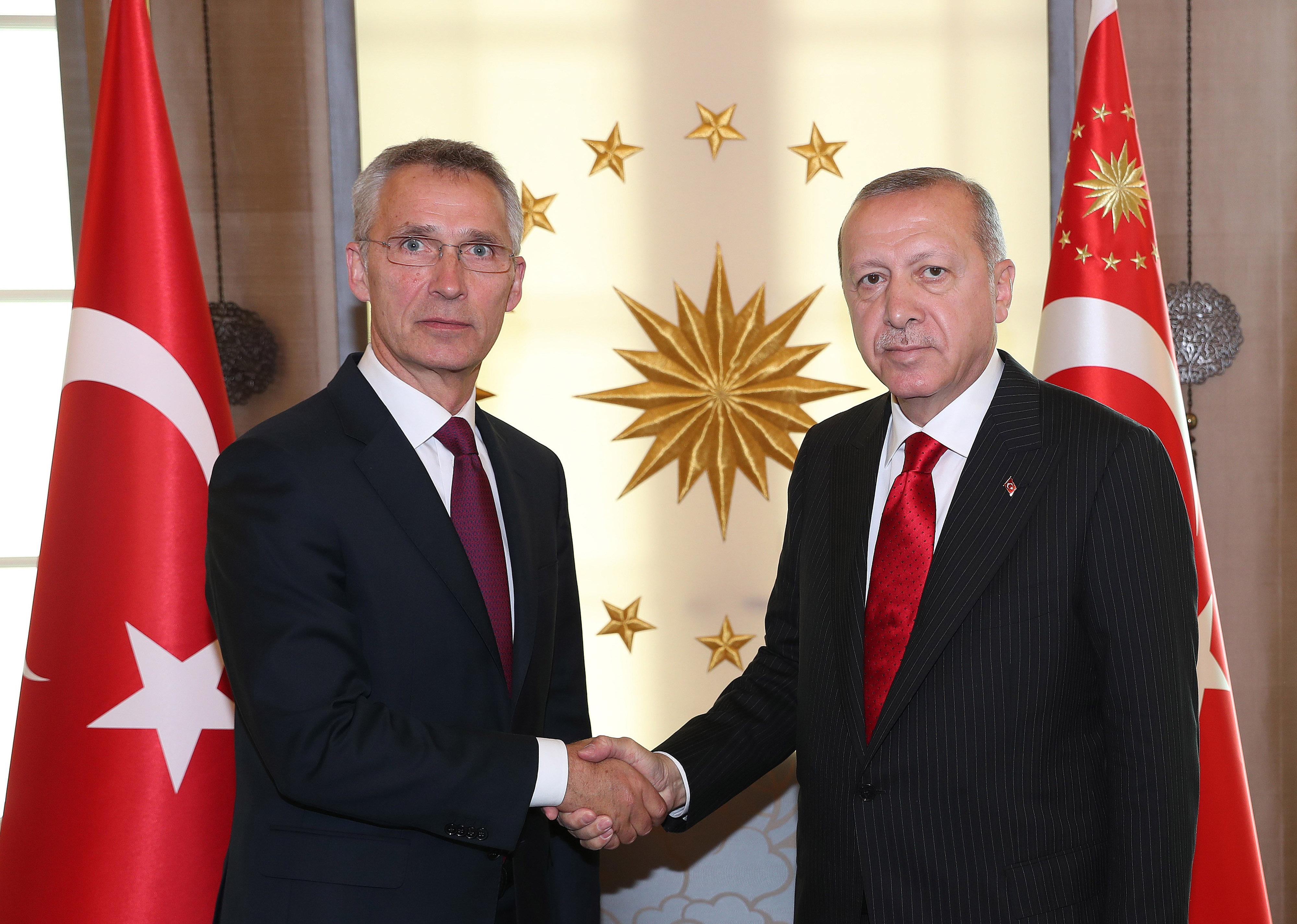 Erdogan fogadta a NATO főtitkárát