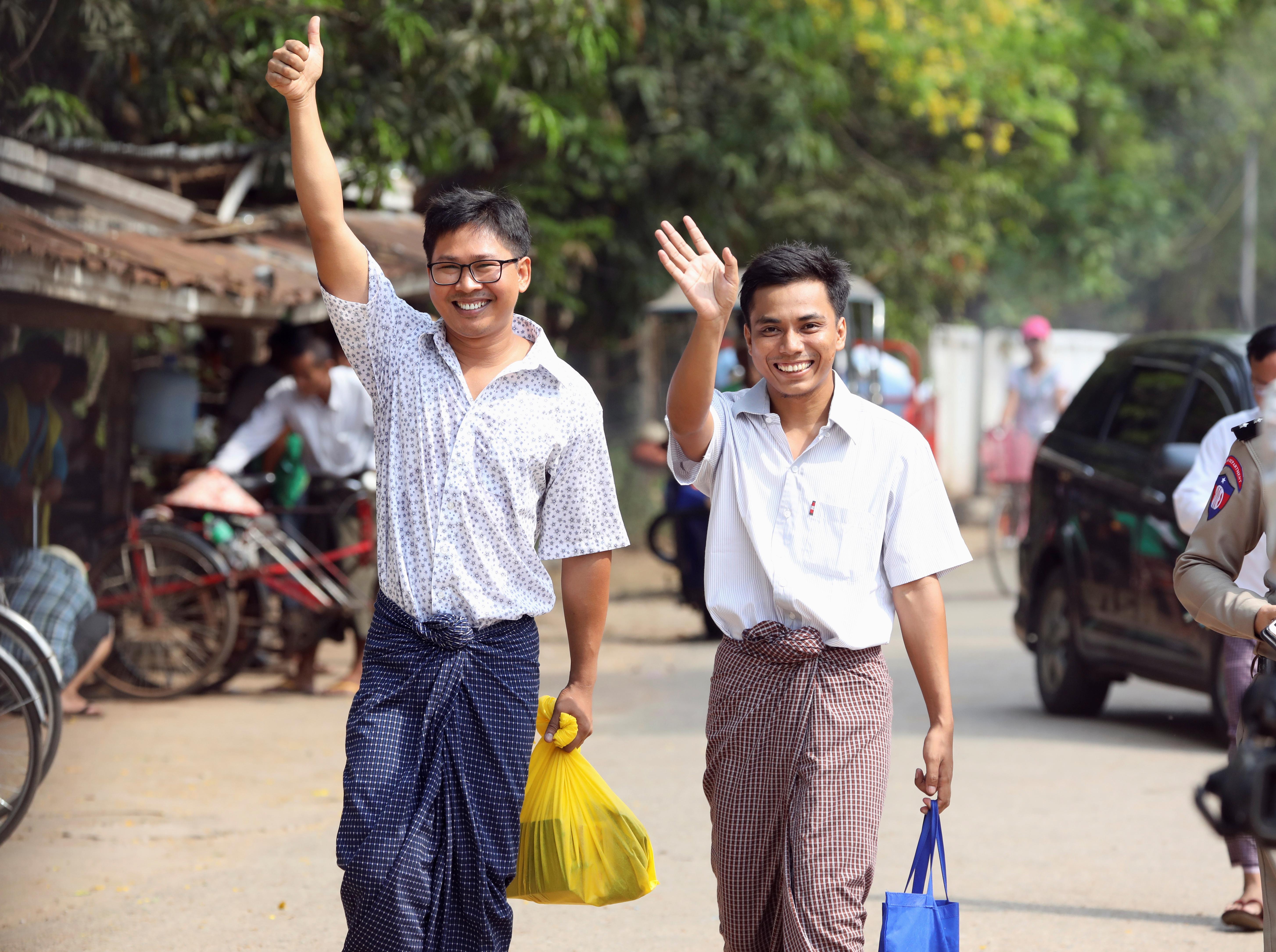 Kiengedtek több ezer embert a börtönből Mianmarban, köztük a Reuters két újságíróját