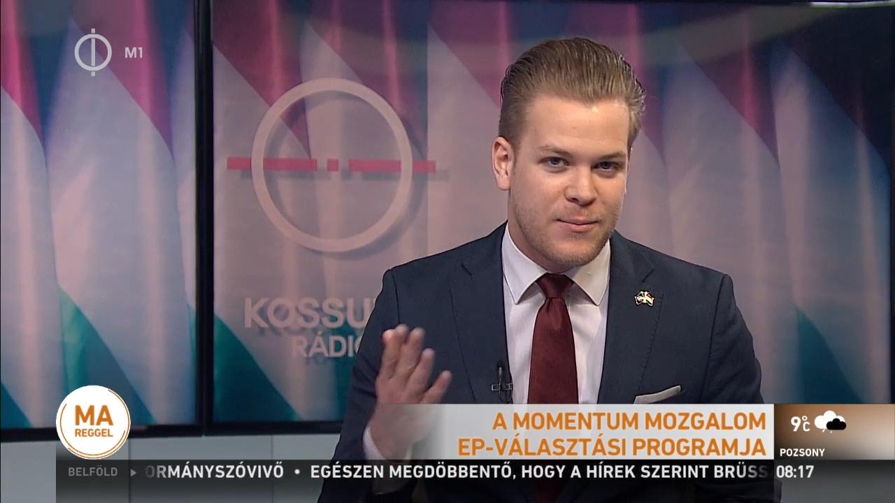 Pártbemutatkozóra hívták, valódi híradót mondott a Momentum elnökségi tagja a köztévén