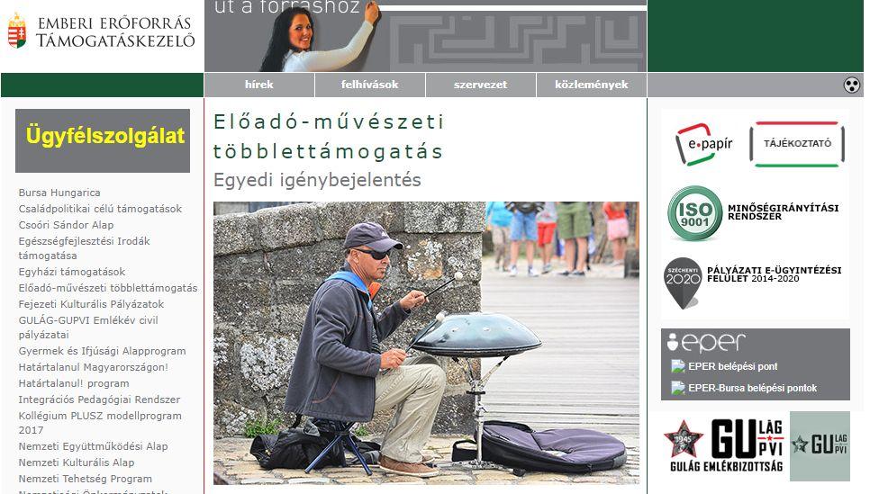 Példásan őszinte illusztrációval mutatja be a művészeti szervezetek helyzetét a kormányzati honlap