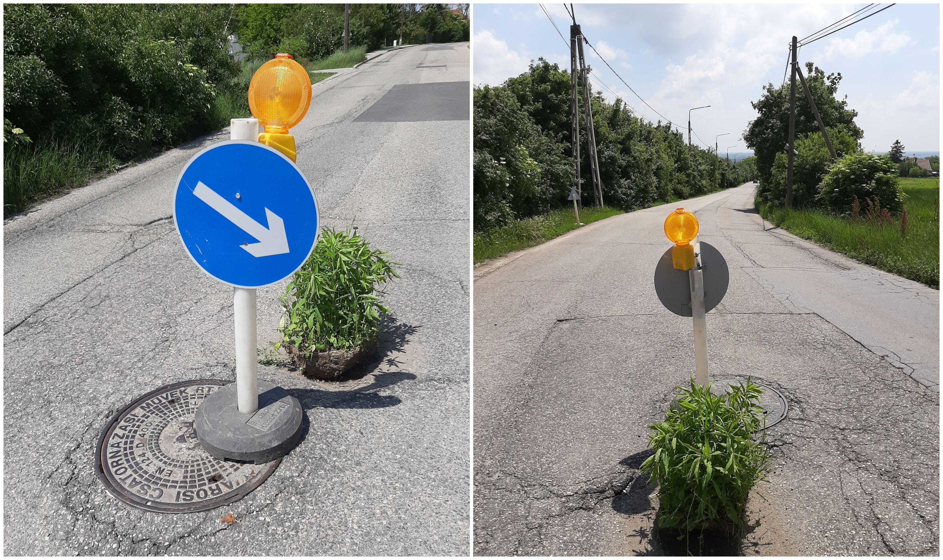 Valaki kiskert létesítésébe kezdett egy budapesti út közepén