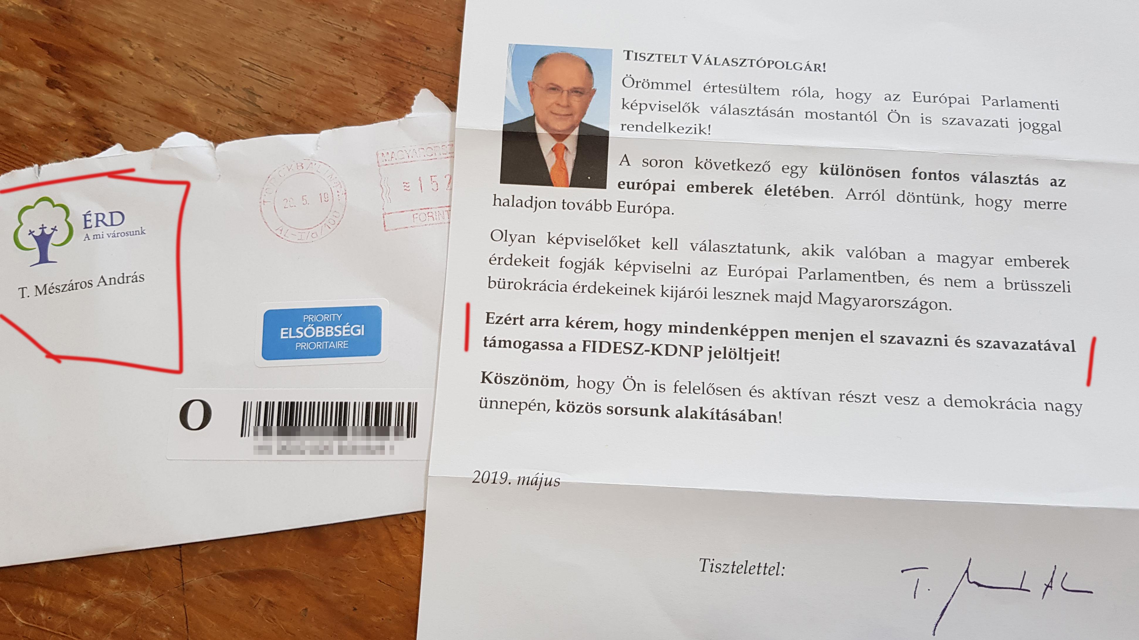 233 ezer forintra büntették az érdi polgármestert, amiért a város nevében kampányolt a Fidesznek
