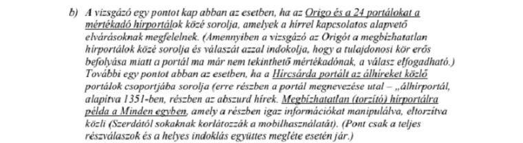 Az is helyes válasz volt a középszintű érettségin, ha a diák az Origót megbízhatatlan, de az is, ha mértékadó portálnak nevezte