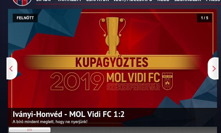 Elképesztő bíráskodás mellett a Vidi nyerte a Magyar Kupát