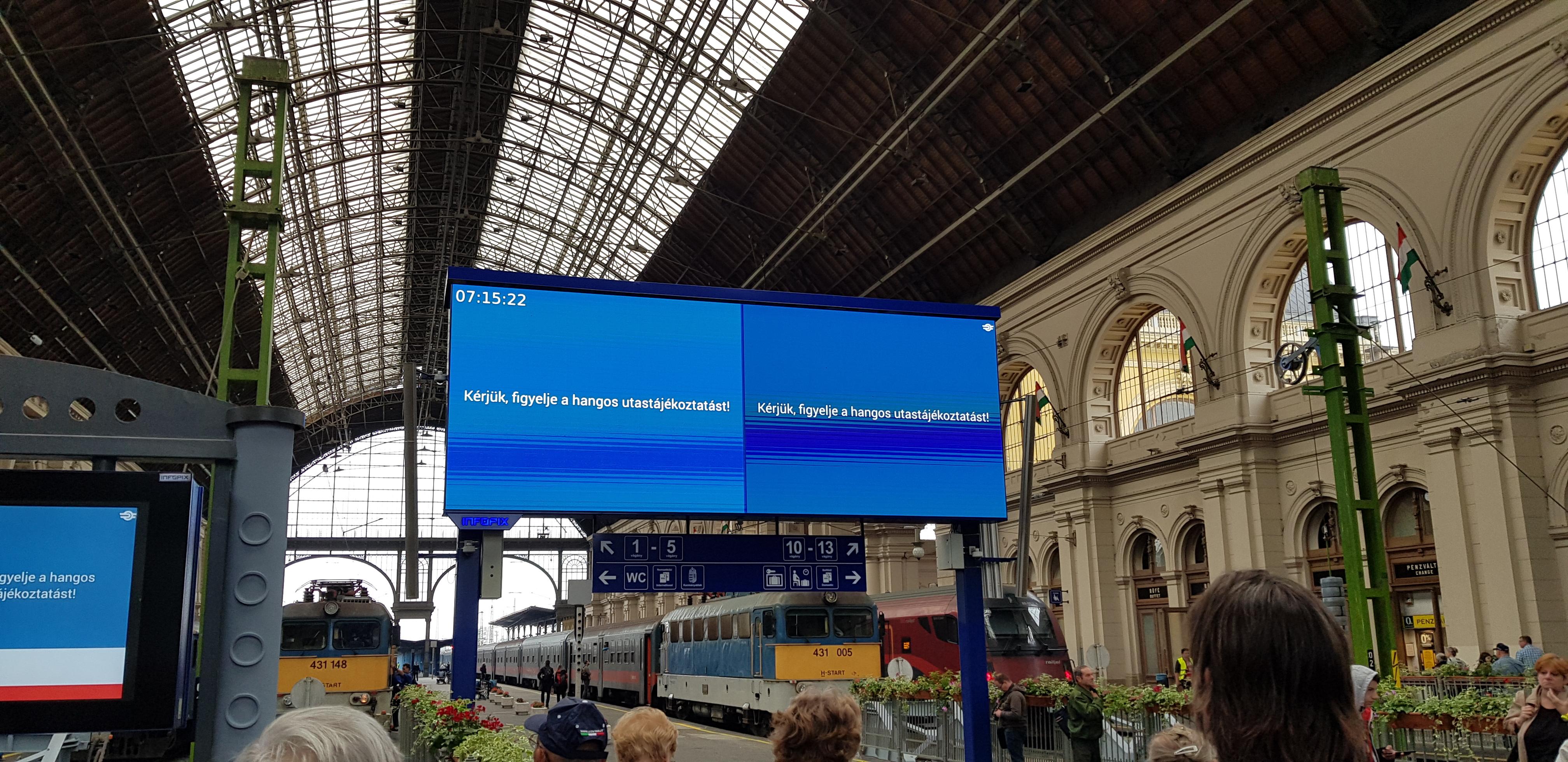 Épp csak a legfontosabb eszköz nem üzemelt a felújított Keleti pályaudvaron