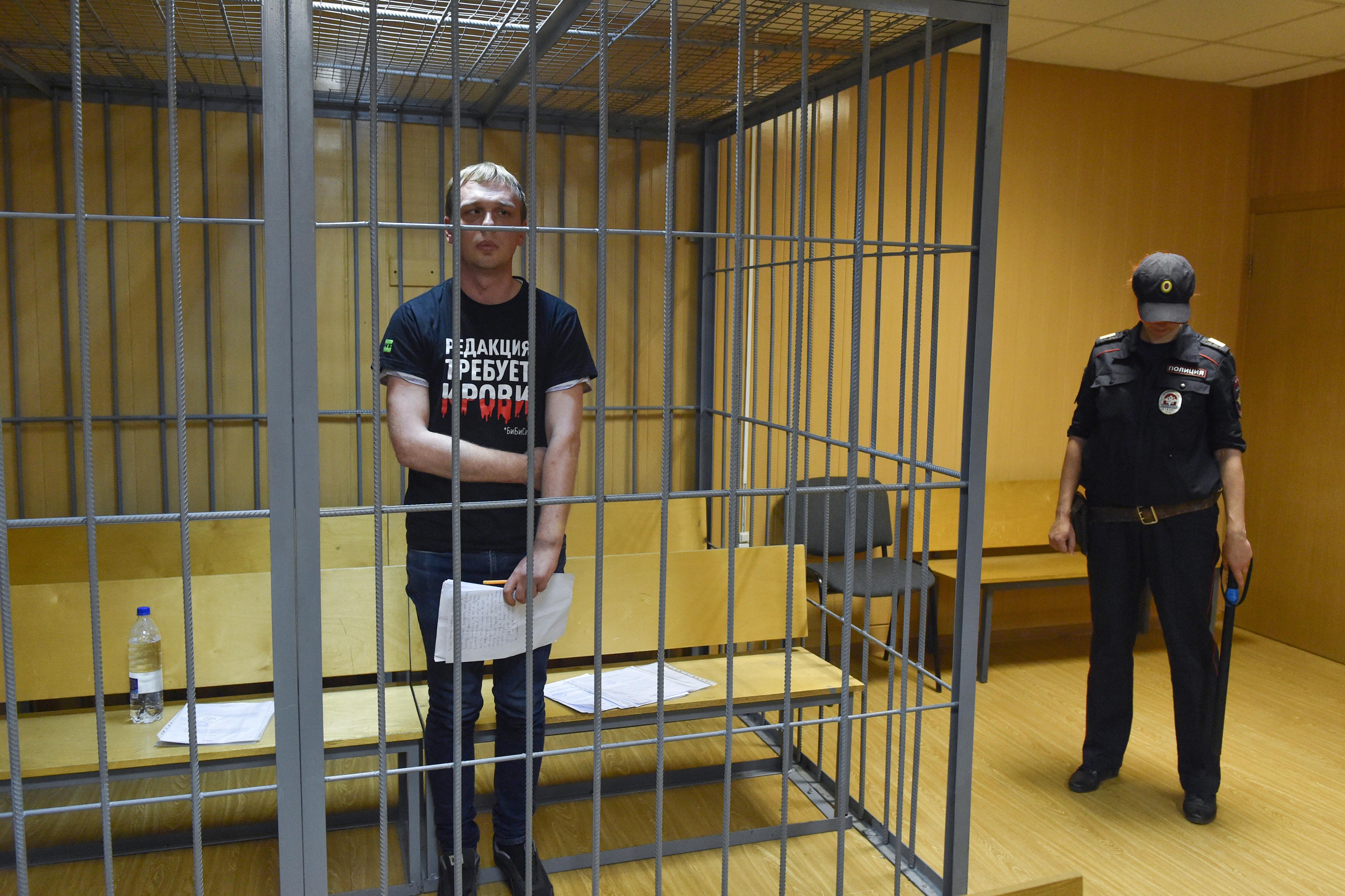 Eltört az orosz oknyomozó újságíró bordája, amíg őrizetben volt Moszkvában