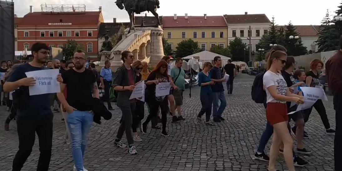 Az úzvölgyi incidens után több száz román és magyar tiltakozott az uszítás ellen Kolozsváron