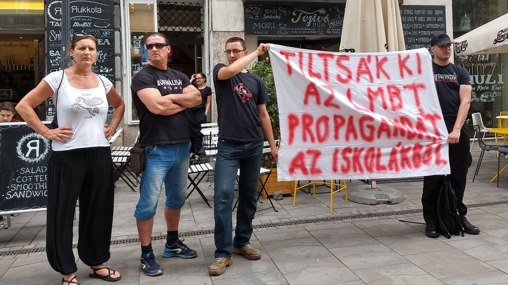 Budaházy Eddáék zavarták meg a Pride programját