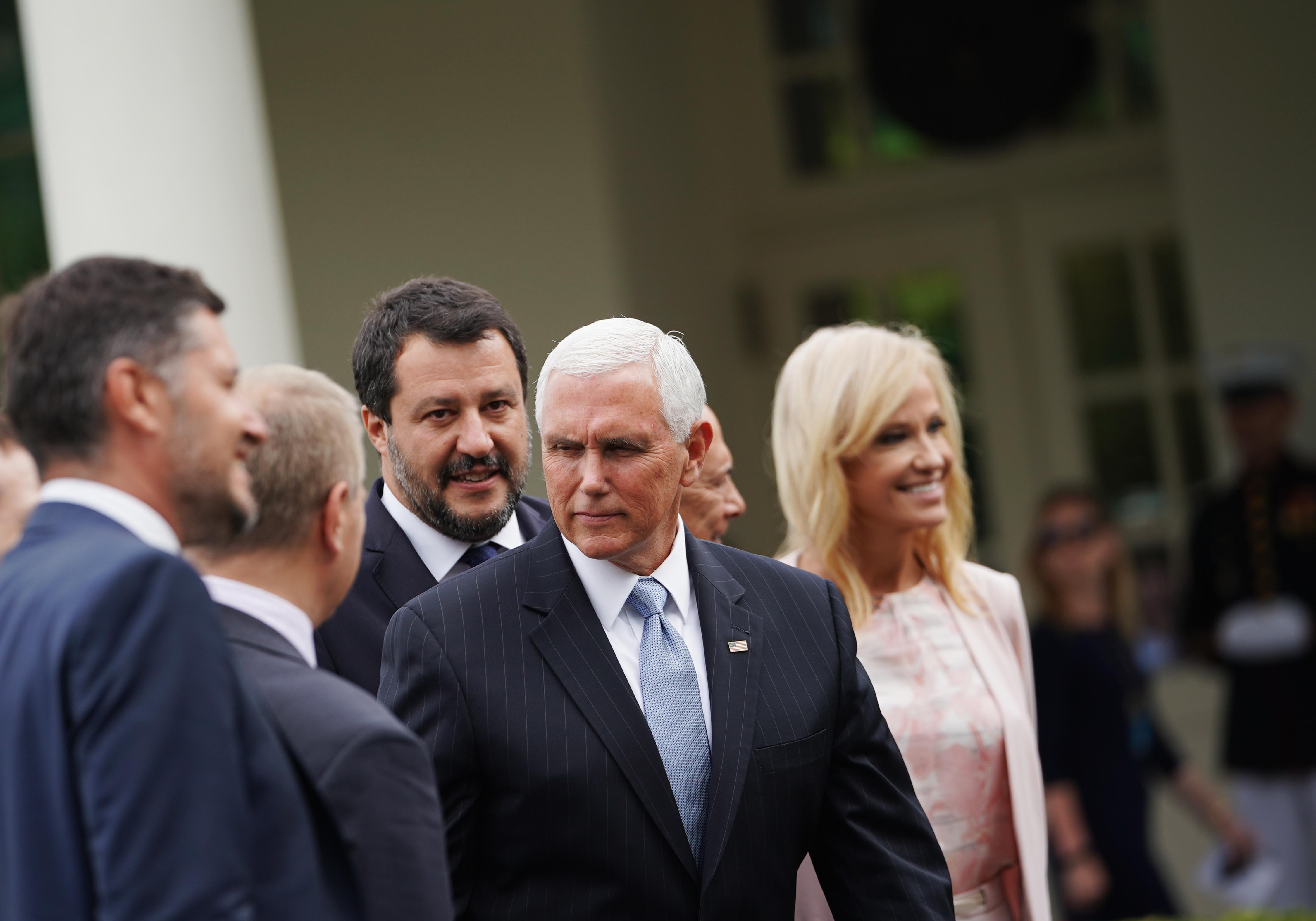 Jól megértette egymást Salvini, Pompeo és Mike Pence