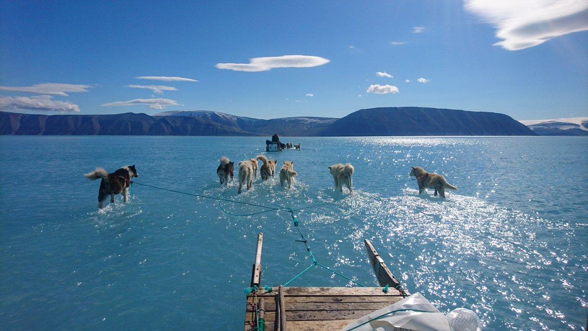 Grönlandon is csodás kánikula van