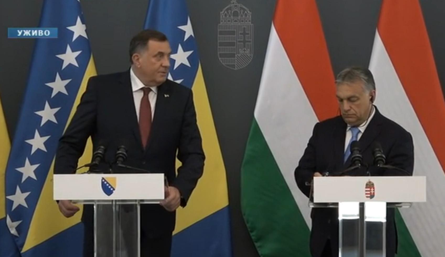 Orbánnal tárgyalt a boszniai szerbek vezetője, de csak a szerb sajtónak szóltak róla