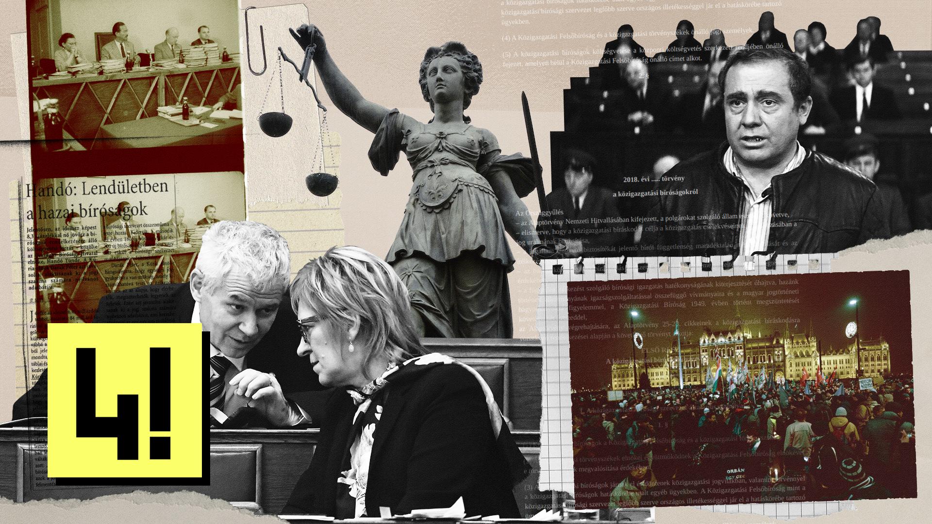 A jogállam utolsó védvonalairól szól a bíróságokért folytatott csata