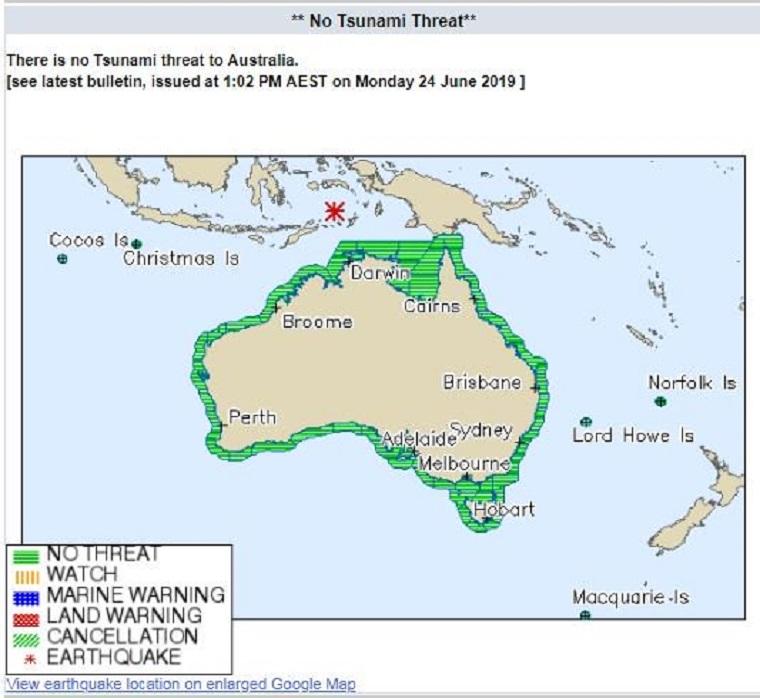 Részben evakuálni kellett az ausztráliai Darwint egy erős földrengés miatt