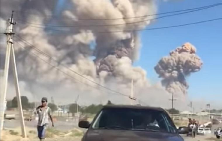 Felrobbant a lőszerraktár, evakuálni kellett egy 44 ezer lakosú kazah várost