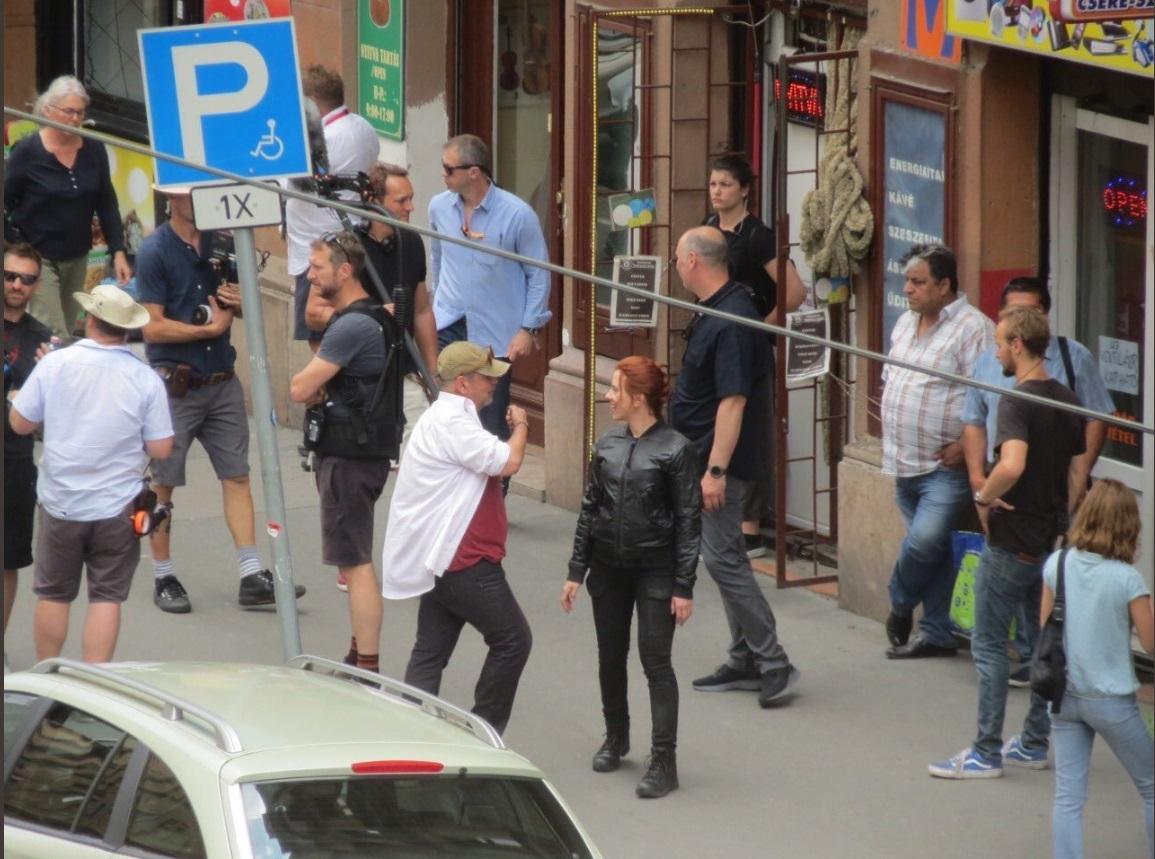 Scarlett Johansson a Népszínház utcában forgatott