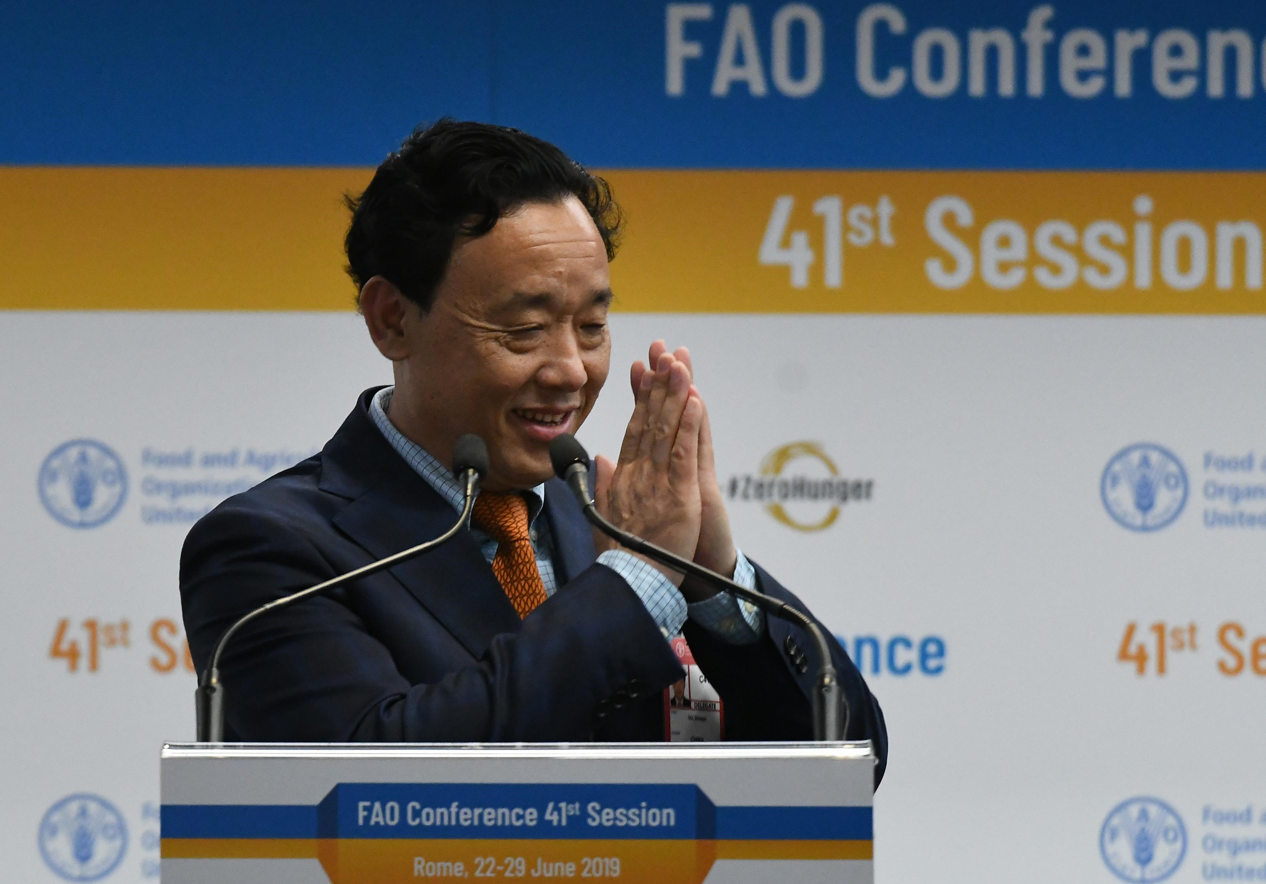 Kínai miniszter-helyettes lett az ENSZ élelmezési szervezetének új vezetője