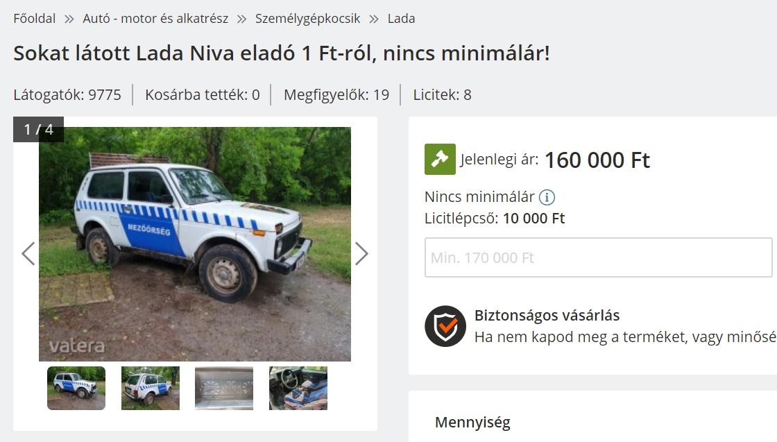 Ásotthalom visszatekert kilométerórával árulja a mezőőrök Lada Niváját (frissítve)