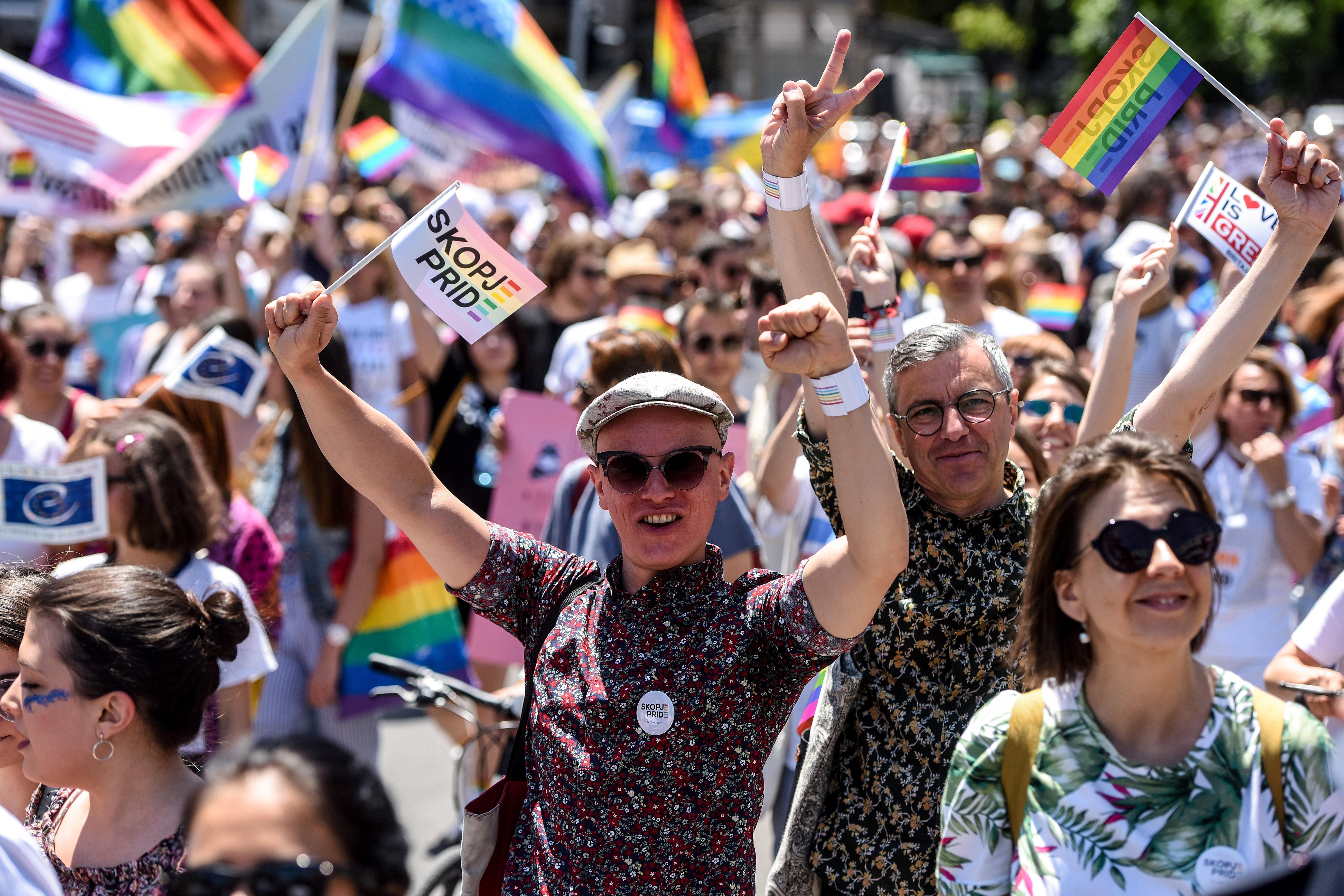 Először tartottak Pride-felvonulást Szkopjében