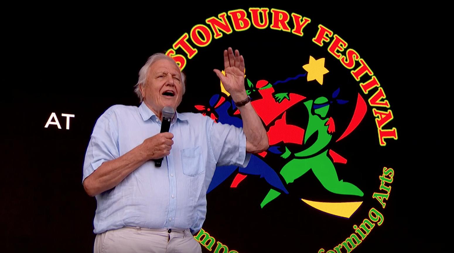 David Attenborough személyesen köszönte meg Glastonbury közönségének, hogy műanyagmentesen buliztak