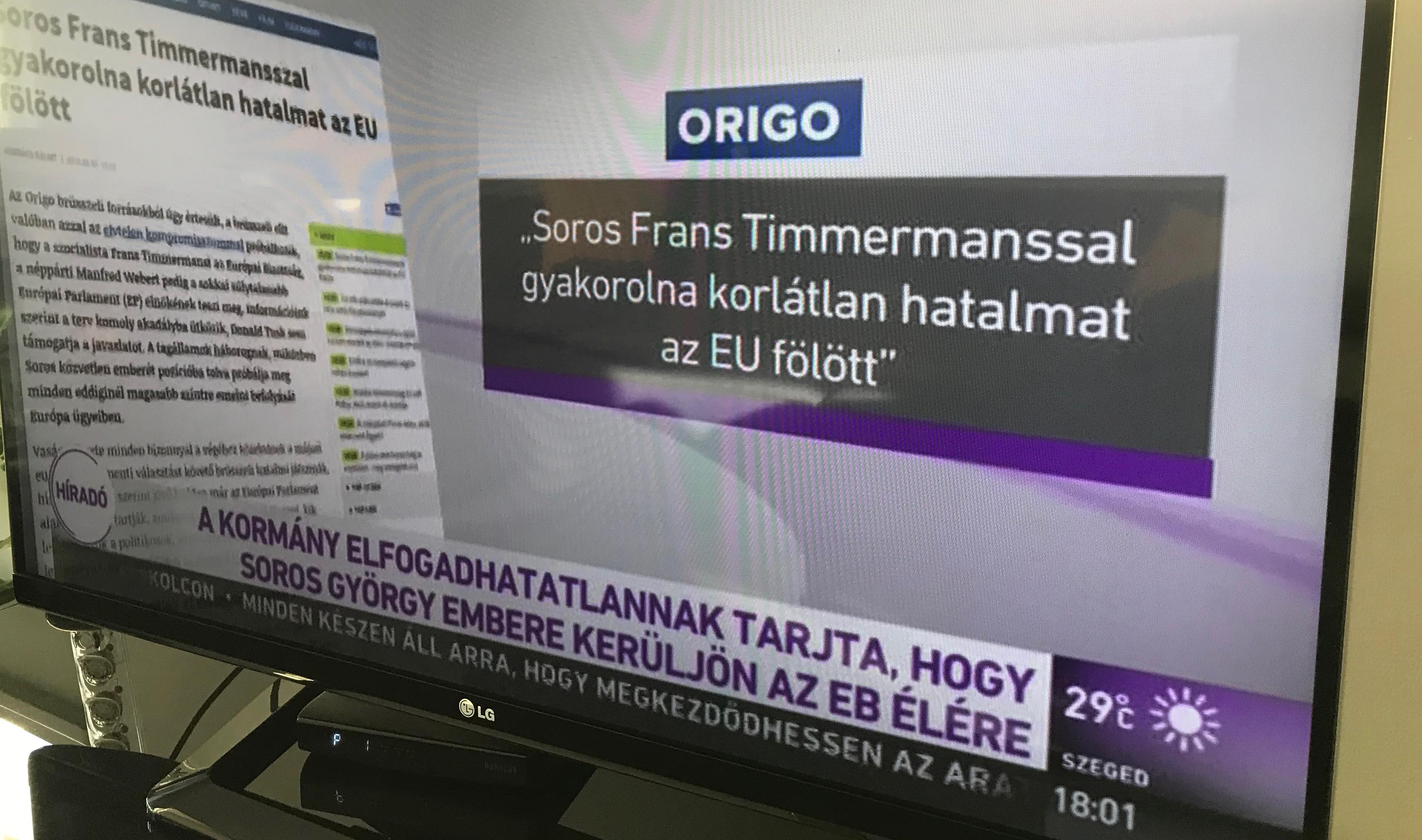 Közmédia Timmermansról: Soros, Soros, SOROS