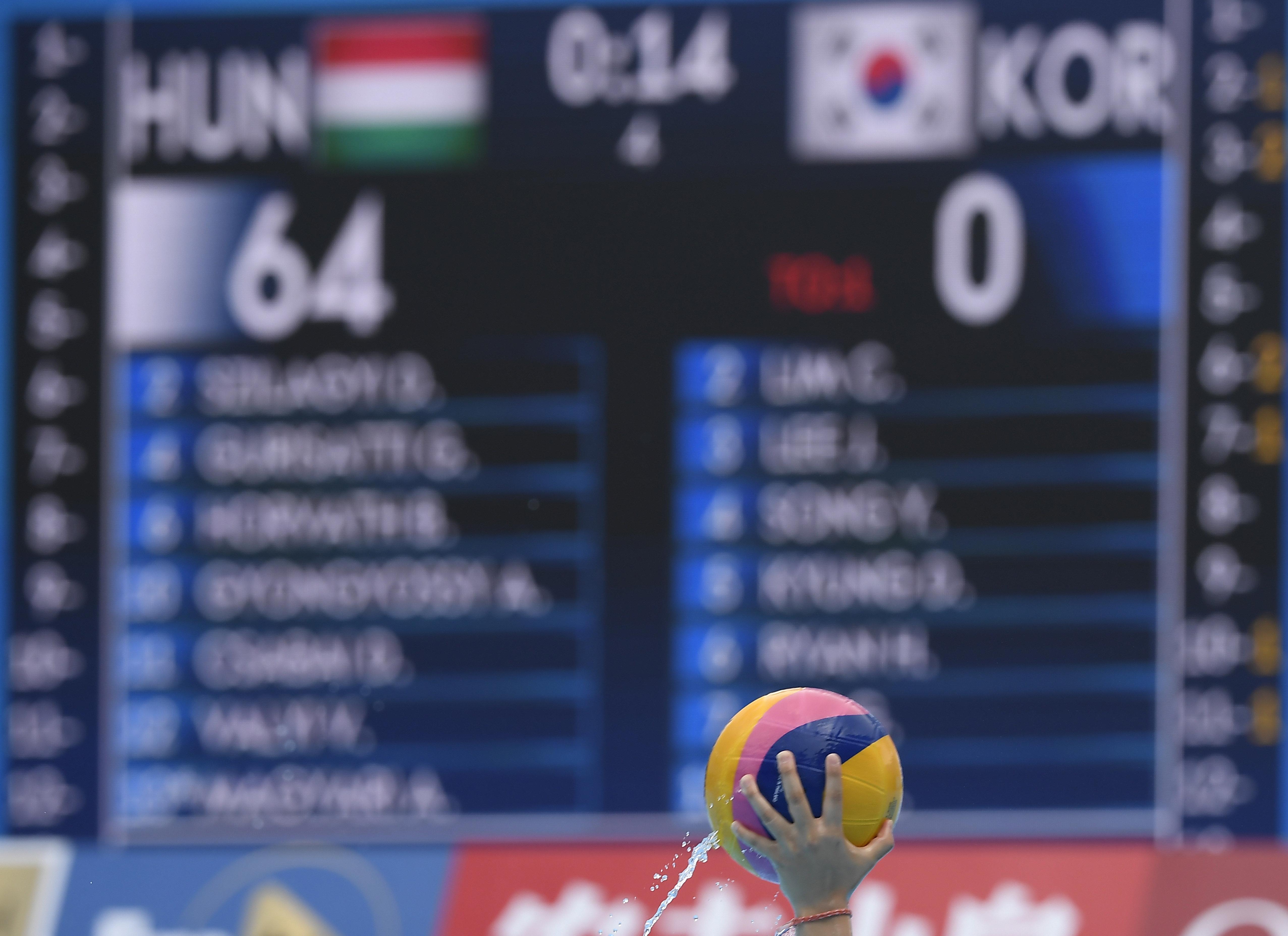 64:0-ra nyert Dél-Korea ellen a magyar női vízilabdaválogatott