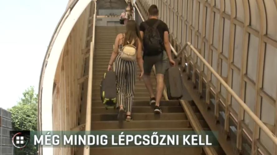 A MÁV ígéri, jövőre már nem kell lépcsőzni a ferihegyi megállóban