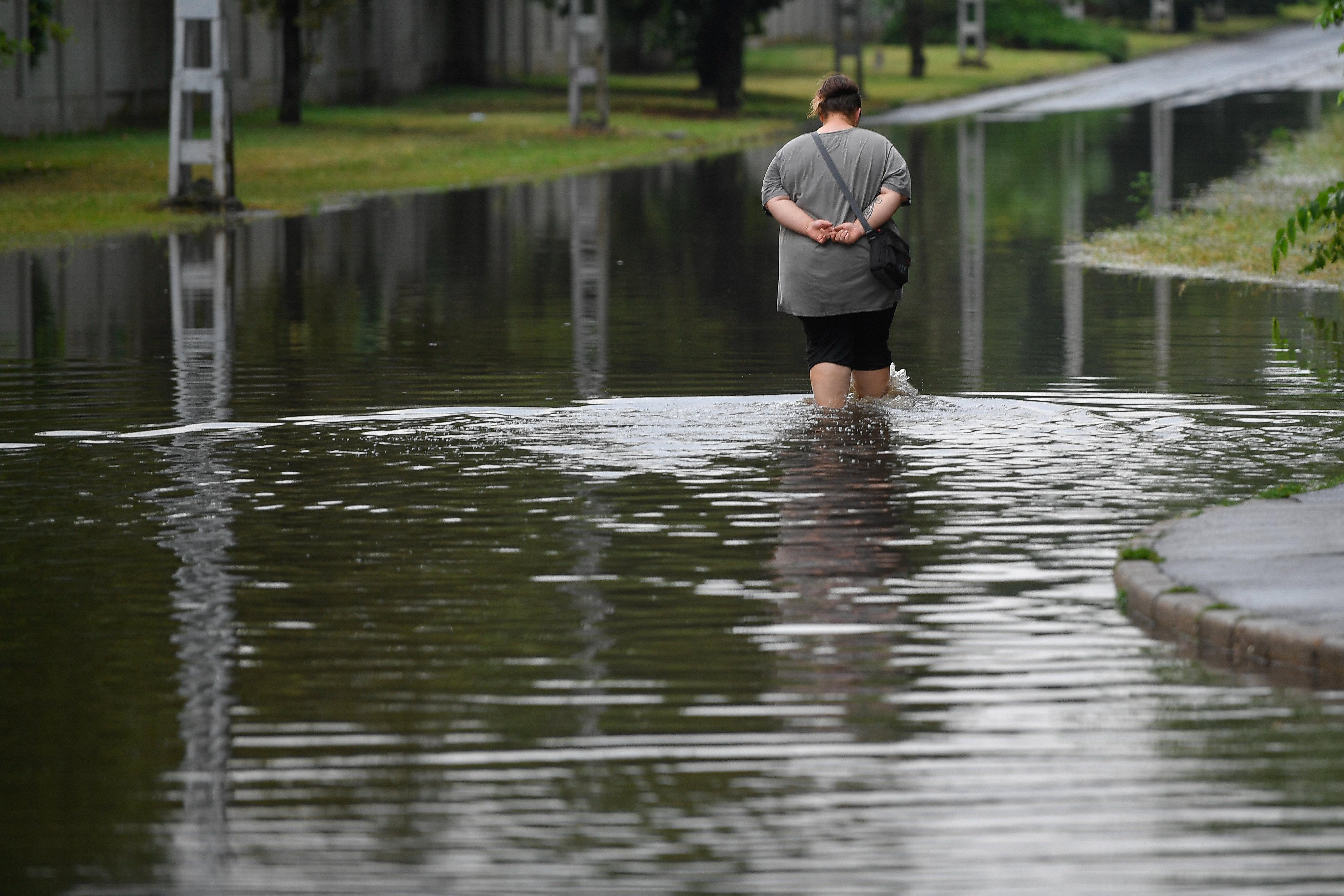 Az esővíz Debrecenben okoz gondokat