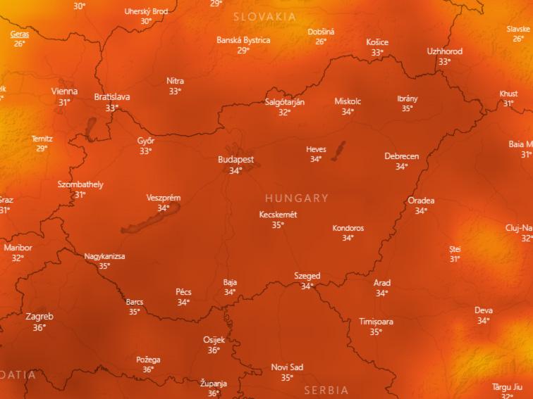 Halló, itt Budakalász: 36,7 Celsius az idei melegrekord