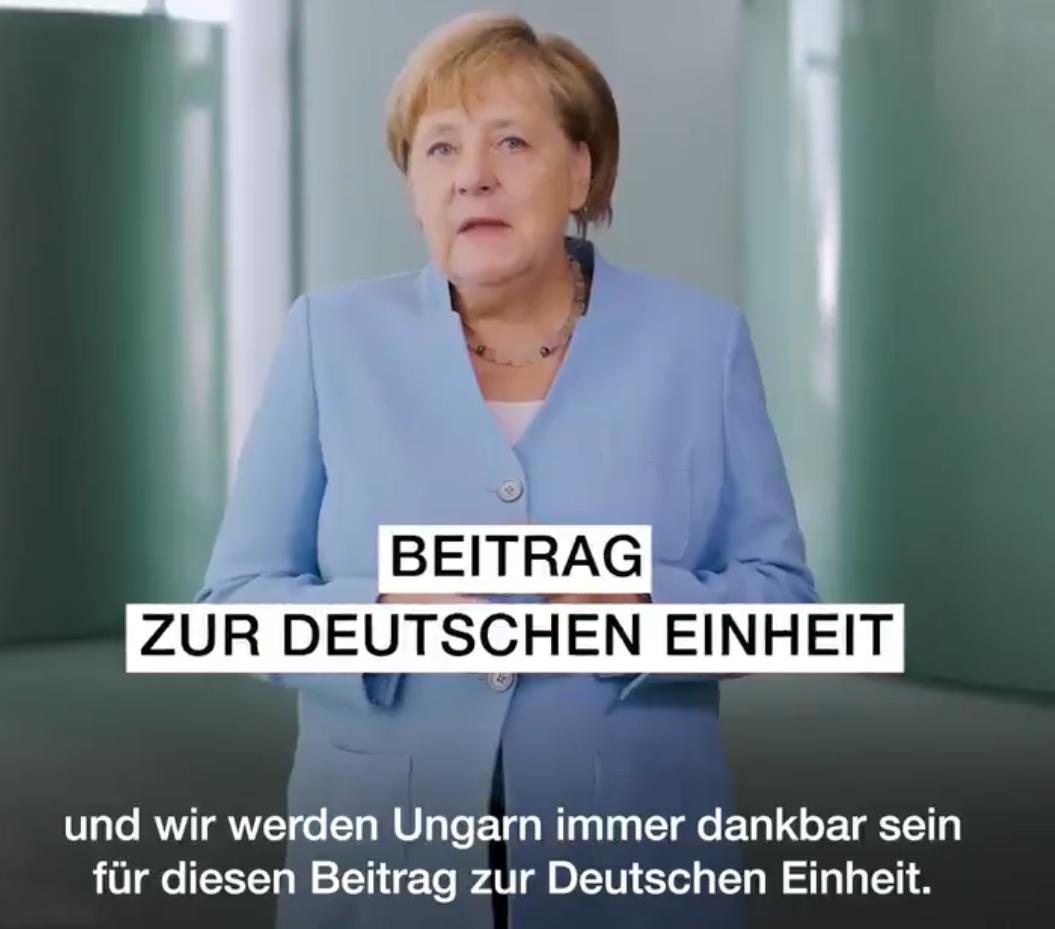 Angela Merkel videóüzenetben mondott köszönetet Magyarországnak