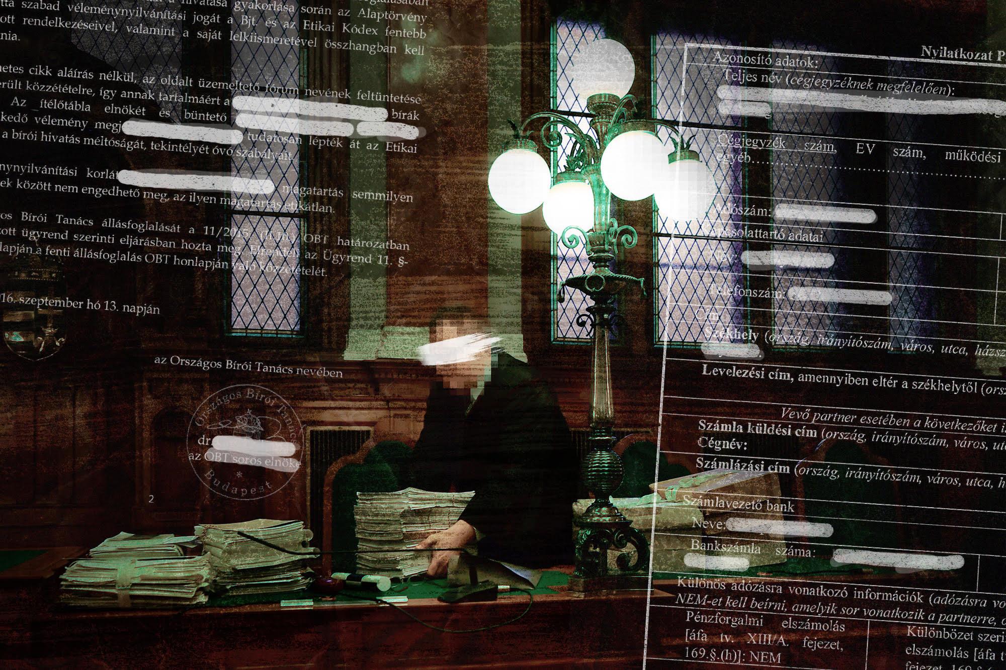 Személyes adataik kiszivárogtatásával 51 bíróra próbáltak nyomást gyakorolni a Budapest Környéki Törvényszéken