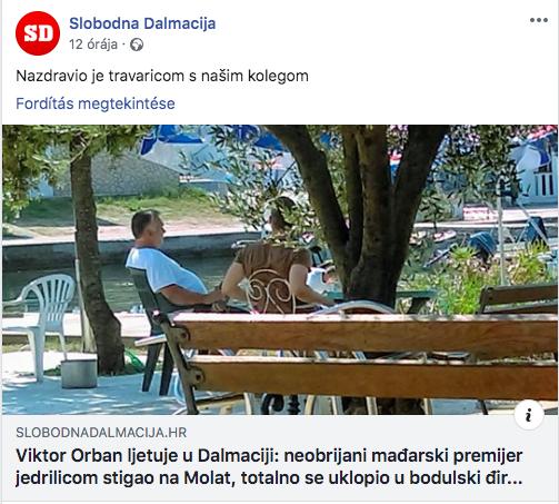 Orbán újra Horvátországban nyaral, vitorlással érkezett Brgulje-ba
