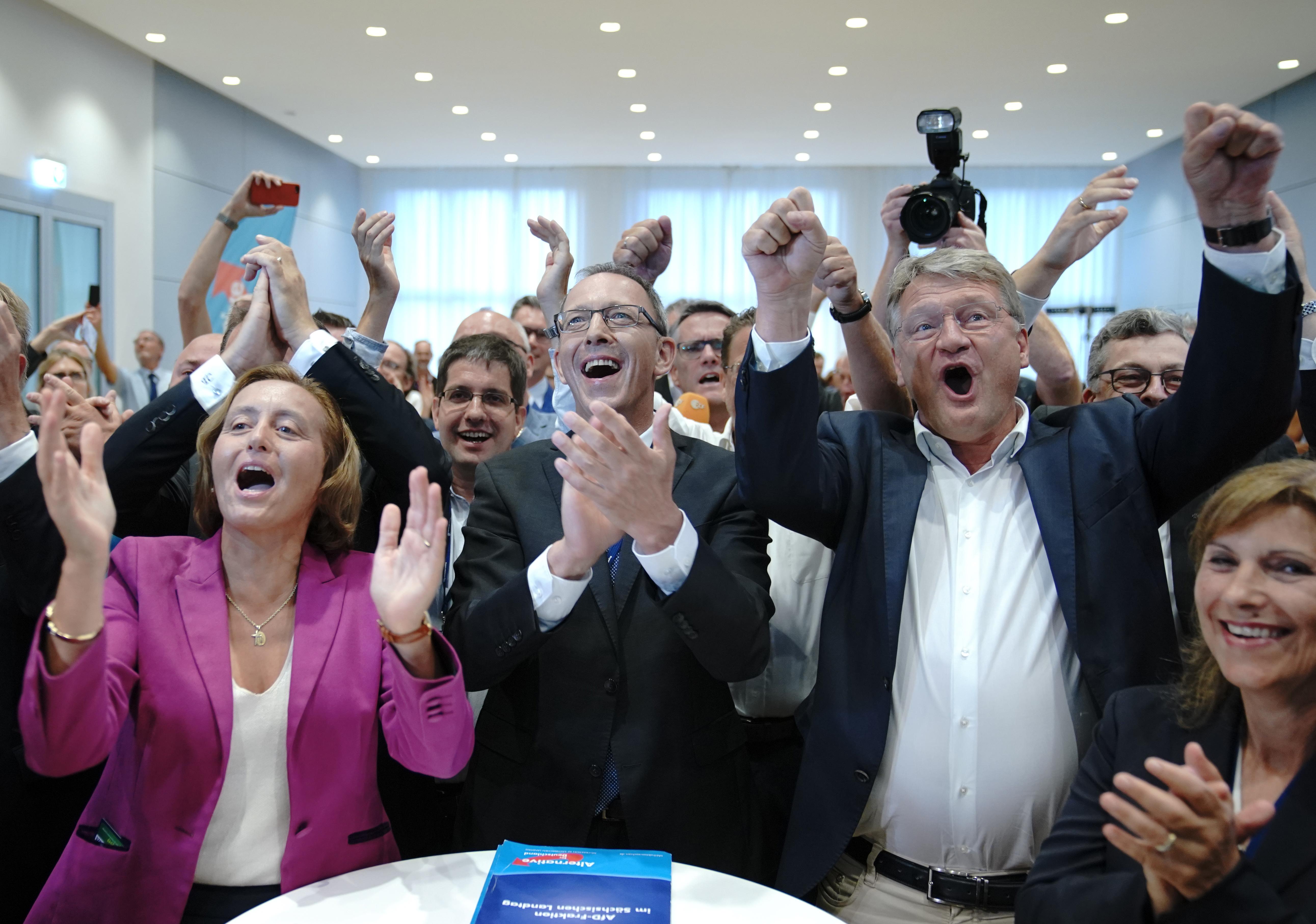 A tartományi választásokon a szélsőjobboldali AfD lett a második legnagyobb párt Németországban