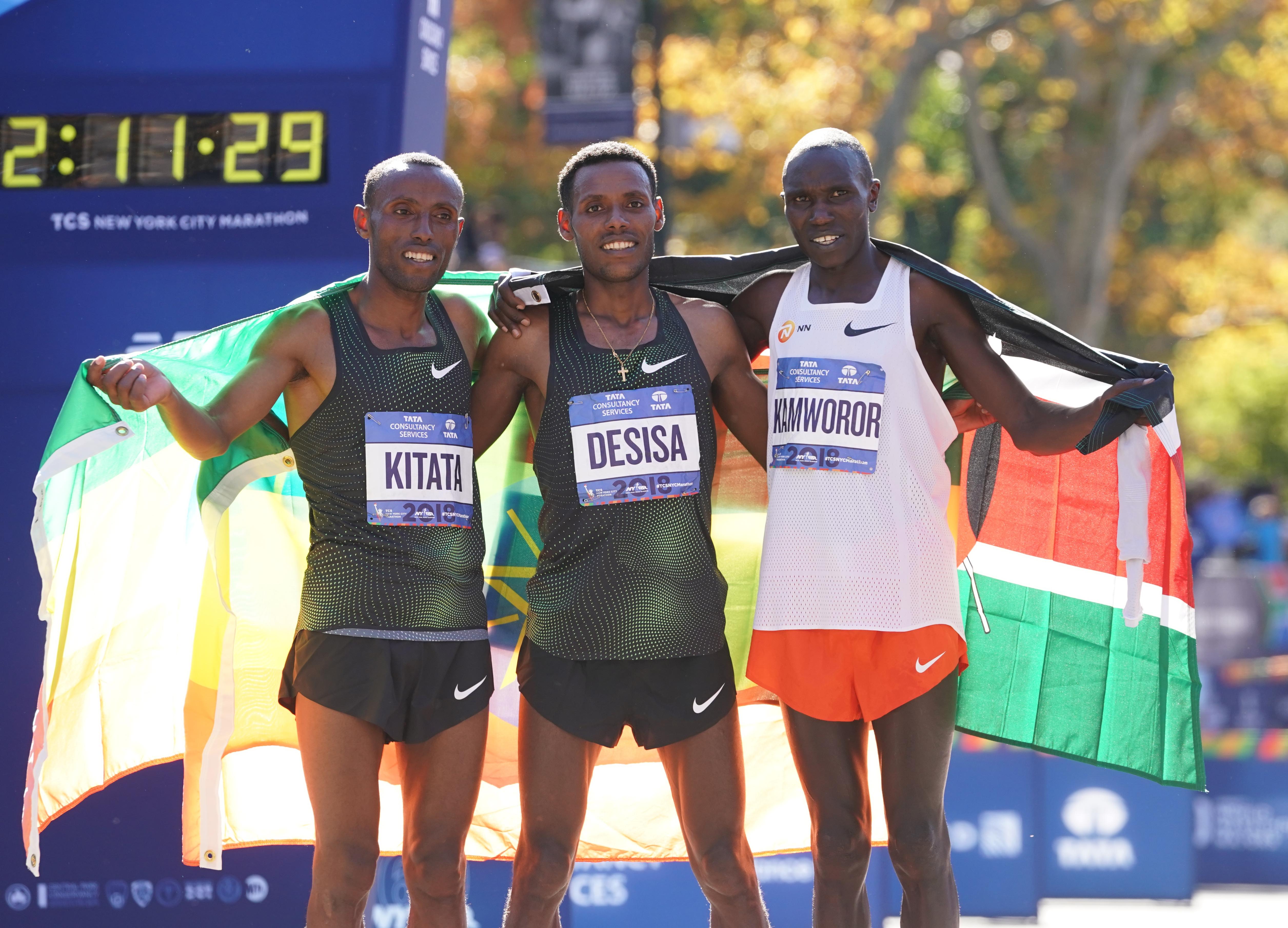 A kenyai Geoffrey Kamworor megdöntötte a félmaraton világcsúcsát