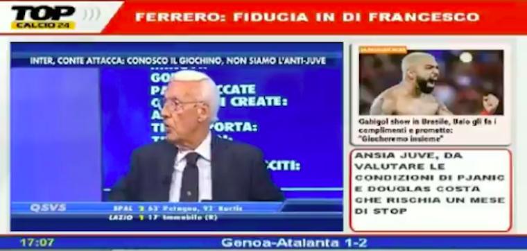Lukakut csak úgy lehet lenyomni, ha adsz neki 10 banánt - mondta az olasz focielemző élő adásban