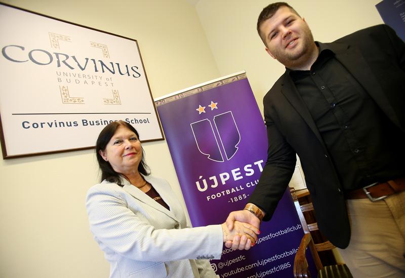 Az Újpest FC duális partnere lett a Corvinusnak