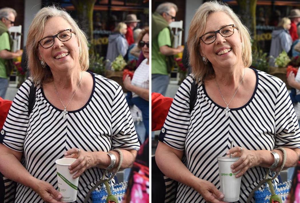 Túlbuzgó kollégák újrahasználható poharat fotosoppoltak a zöldpárti politikus kezébe
