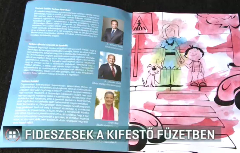 Újbudai óvodások olyan kifestőt kaptak, amiben fideszes politikusok szerepelnek