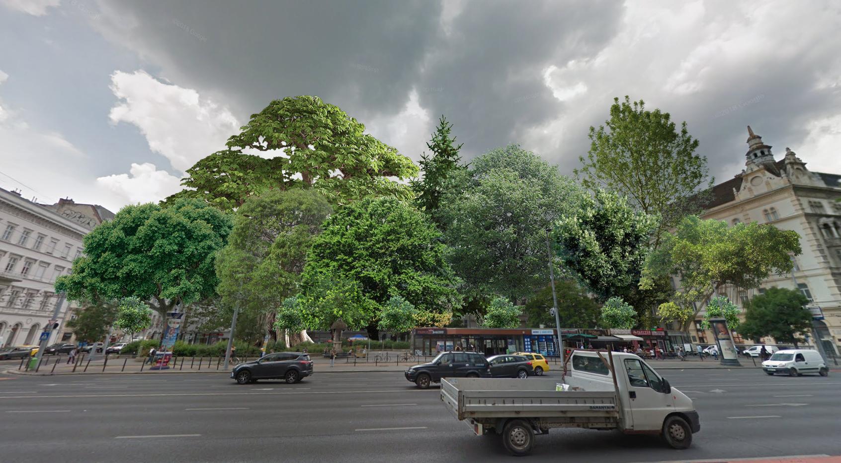 Csak a legkeményebb erdőjáróknak javasoljuk az Arany János utcai metrómegálló köré ültetett új városi erdő megközelítését