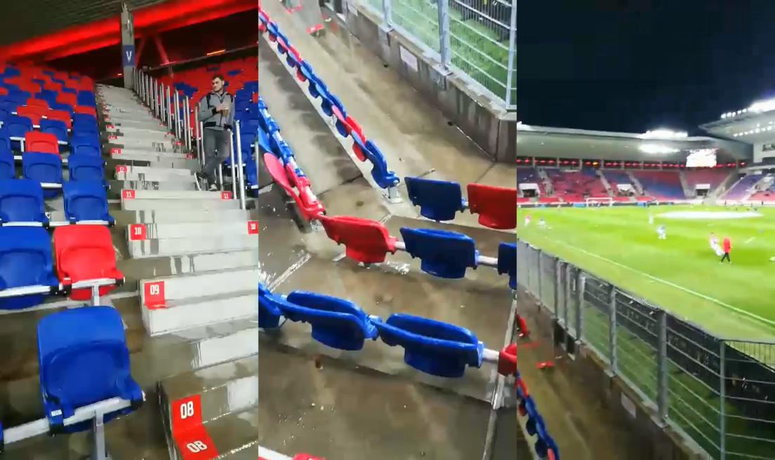 Esőre nem készültek fel: beázott a Fehérvár új, 14 milliárdos stadionja