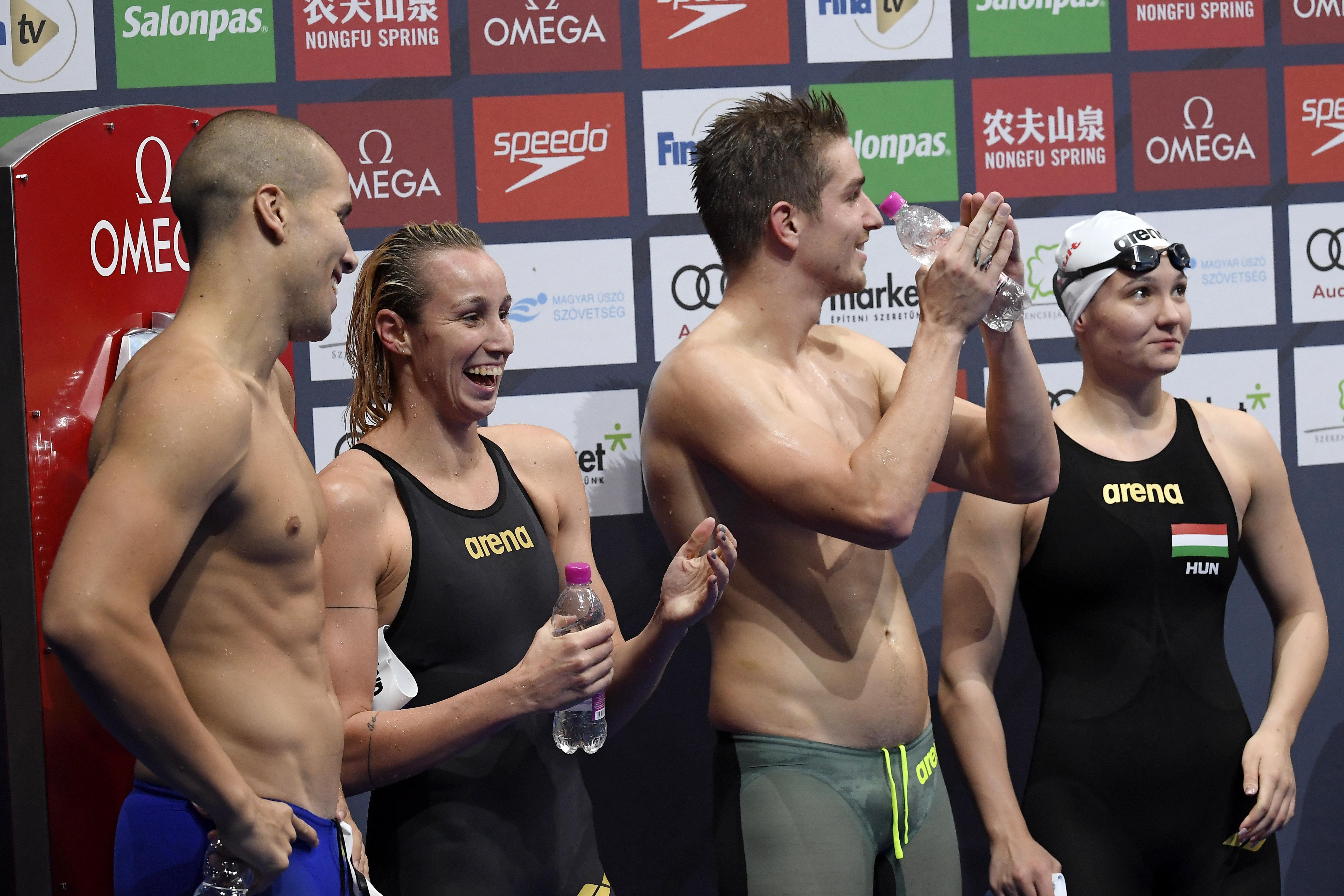 Négy magyar győzelem az úszóvilágkupa utolsó napján a Duna Arénában