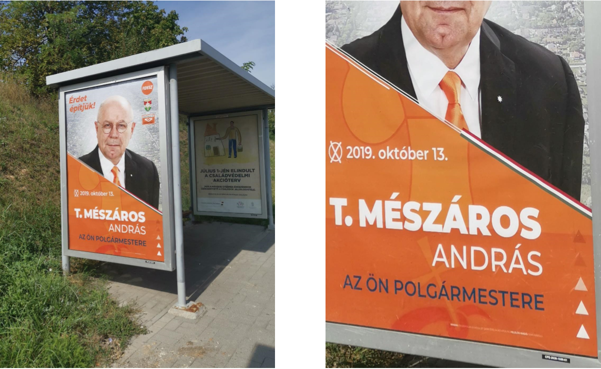 Kimondta a bíróság, hogy az érdi fideszesek plakátjai sértik a választás tisztaságát